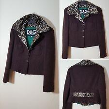 Dolce & Gabbana Size 28 UK 10 12 Brown Virgin Wool Leopard Print 90s Clueless