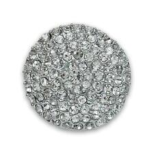 "Rhinestone Button Dome Pave Crystal Large Vintage Round Style 1 5/8""  Wedding LG"