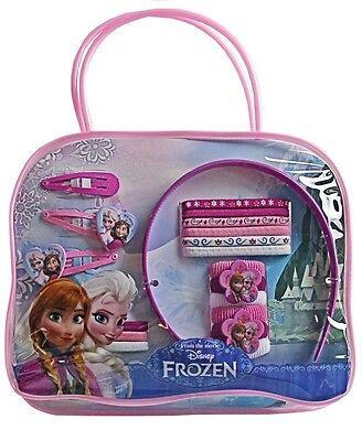 GIRLS 20 PIECE DISNEY FROZEN HAIR ACCESSORY SET IN BAG - CLIPS BANDS 56085