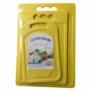 Yellow-Large-Medium-small-Chopping-Board-Baking-Kitchen-Plastic-Cutting-Board