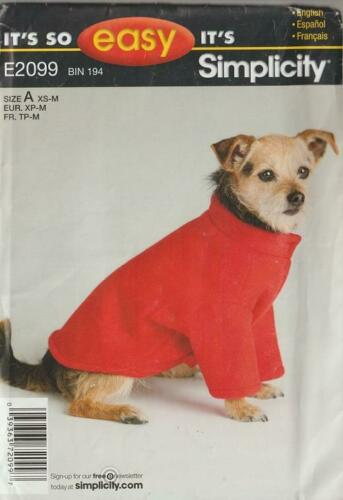Simplicity Sewing Pattern Dog Clothes Beds Accessories For Pets You Pick