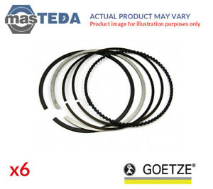 6x-ENGINE-PISTON-RING-SET-GOETZE-08-114400-40-G-NEW-OE-REPLACEMENT