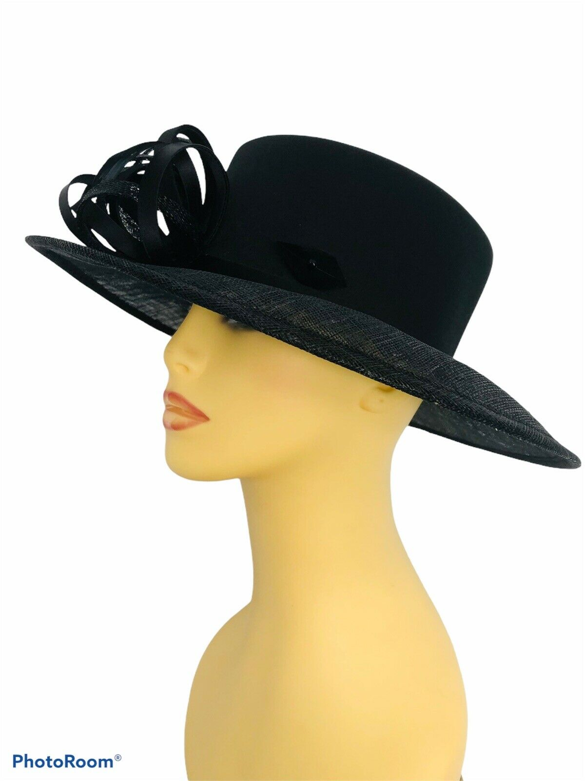 Ladies Chic Black Formal Event Hat Wedding Church Occasion Debenhams Classics
