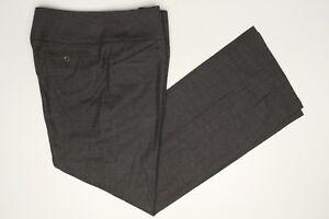 Giorgio Armani Wool Pants Womens Size 8 Gray Side Zip Slacks Made in Italy