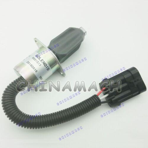 New Fuel Shut Off Solenoid 6681513 For Bobcat T190 S150 S160 S175 S185