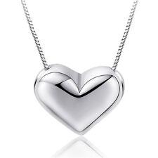 925 Plata Encanto Corazón Colgante Collar Cadena Mujer señoras de la joyería