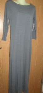 8b96e2897a Image is loading NWT-JCPenney-Jacqueline-Ferrar-stretch-Gray-maxi-dress-