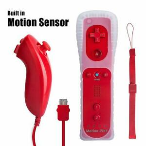 Built in Motion Plus Wireless Remote Nunchuck Controller For Nintendo Wii /Wii U