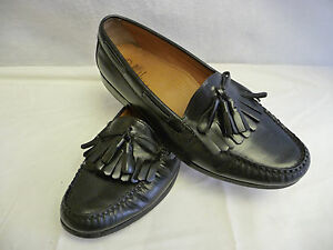 d7e929a138a6c Details about COLE HAAN Mens Black Tassel Fringe Loafers 11.5 D Leather  Moc-toe Arch Supports