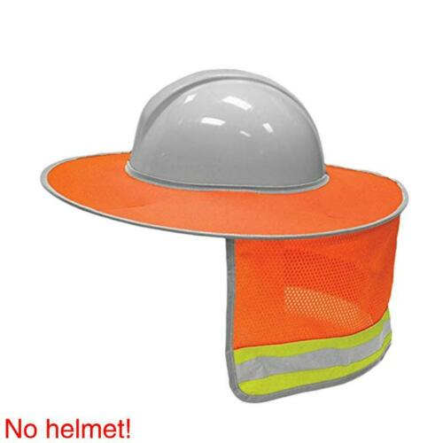 Safety Hard Hat Sun Shade Visor Face Neck Protection Brim For Reflective Hat