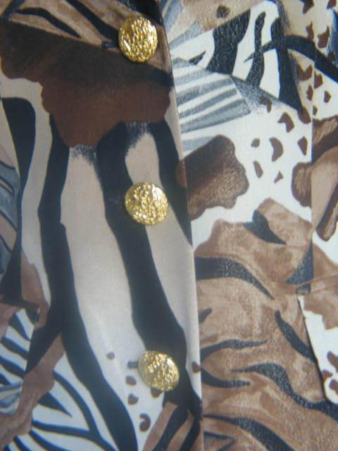 Efecto brillo Escada Couture laurel blazer  animal oro 36 38 np1080, - top Safari de lujo  autorización