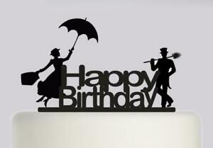 Mary Poppins Happy Birthday Acrylic Cake topper Birthday ...