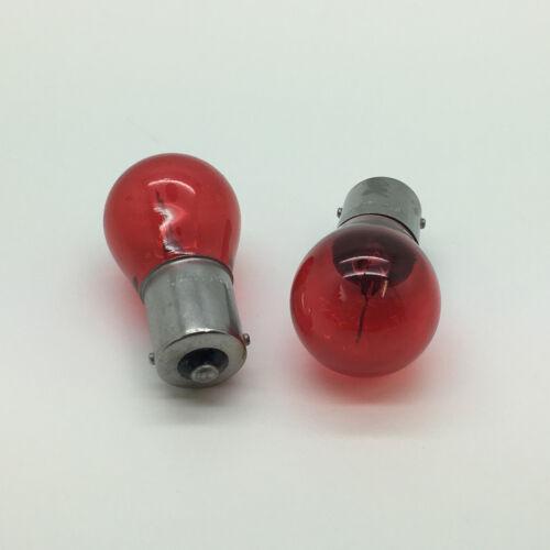 2 x 382 Red P21W BA15S Rear Tail Light Car Bulb 382R 12v 21w