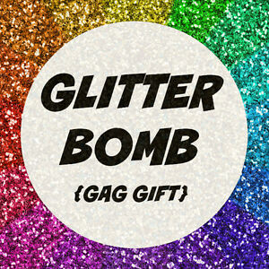 anonymous glitter bomb mail send prank gag gift letter card funny, Birthday card