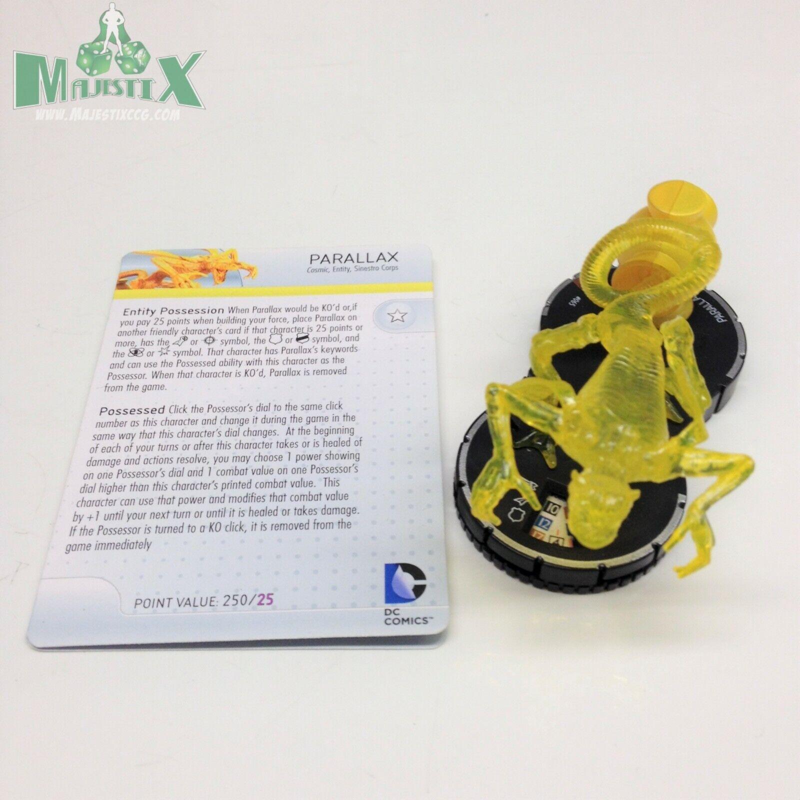 Heroclix Guerra de la luz Set Linterna de paralaje (Amarillo)  065 Figura de Chase Con Tarjeta