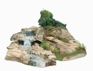 Bachlauf-Wasserfall-Gartenteich-Bachlaufschalen-Set-II