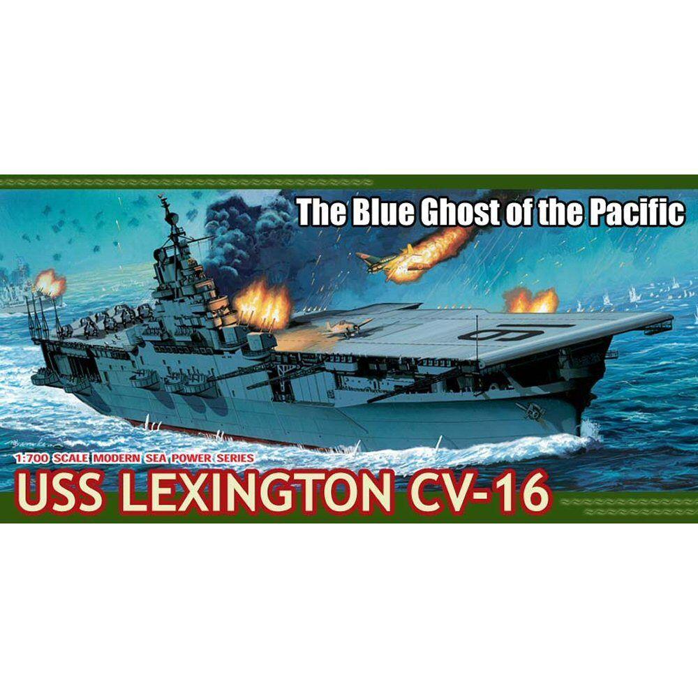 Dragon 7051 U.S.S. Lexington CV-16 1 700 scale plastic model kit