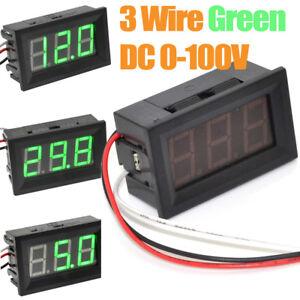 5pcs lot 3 wires 0 56 dc 0 100v green led digital voltage detector rh ebay com Automotive Voltmeter Wiring -Diagram AC Voltmeter Wiring -Diagram