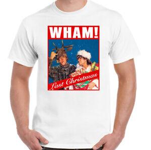 WHAM-LAST-CHRISTMAS-T-SHIRT-Mens-Xmas-George-Micheael-Unisex-Tee-Top-CD-Album