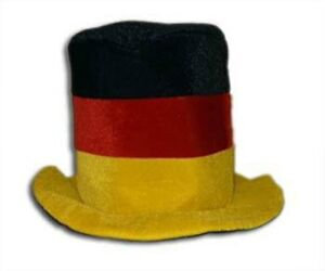 Deutschland-Germany-Funhat-Zylinder-Hut-Fan-Unigroesse-neu-EM-2016-Fussball