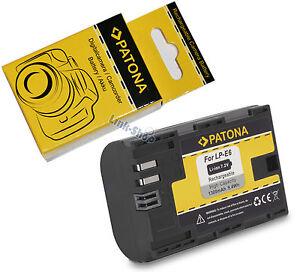 Batteria-Originale-Patona-LP-E6-per-Canon-EOS-60D-60Da-7D-5D-Mark-II-III-70D-2-3