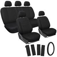 Suv Van Truck Seat Cover Black 17pc Full Set W/steering Wheel/belt Pad/head Rest on sale