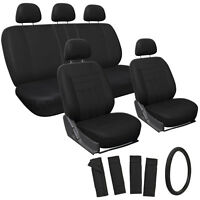 Suv Van Truck Seat Cover Black 17pc Full Set W/steering Wheel/belt Pad/head Rest on sale