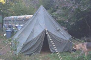 Image is loading Arctic-Hex-Tent-5-Man-M-1950-Genuine- & Arctic Hex Tent 5-Man M-1950 Genuine Military Issue RARE FIND | eBay