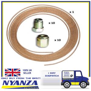 Copper-Brake-Pipe-3-16-034-X-25-FT-Roll-20-Metric-Unions-10-Male-10-Female