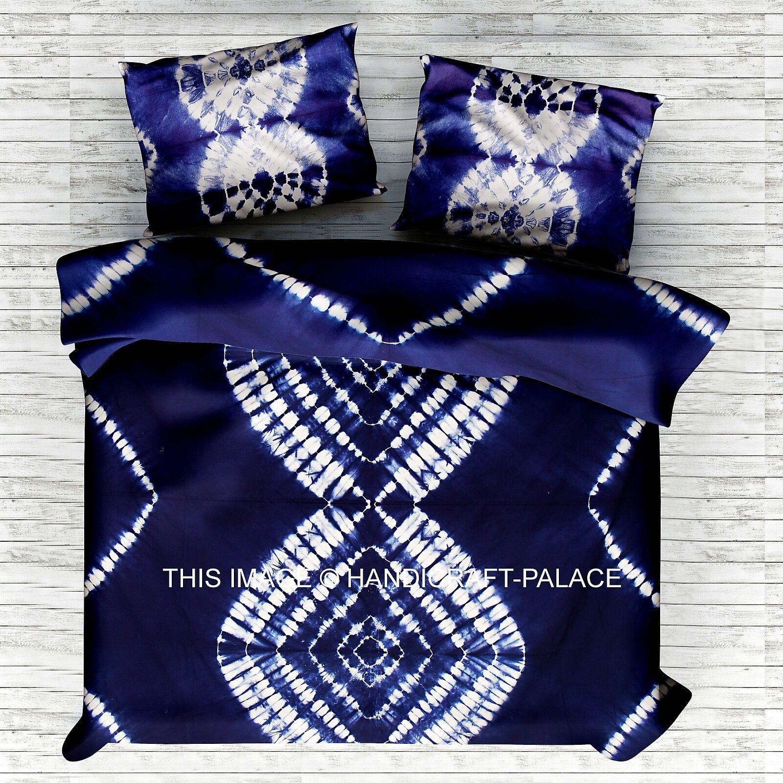 Indian Duvet Doona Cover Cotton King Tie dye Mandala Shibori Comforter Cover Set