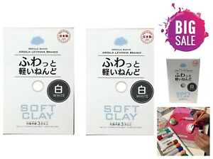 2-Pack-Daiso-White-Soft-Clay-for-Butter-Slime-Art-Craft