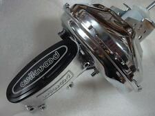 "Wilwood Master Cylinder + Chrome Power 11"" Brake Booster Chevelle Camaro Chevy"