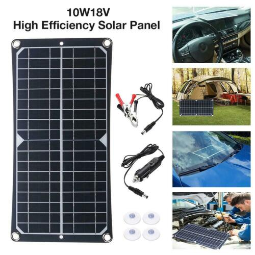 Solar Panel Battery Charger 10W 18V Charging Tools for Mobile Phone RV Car