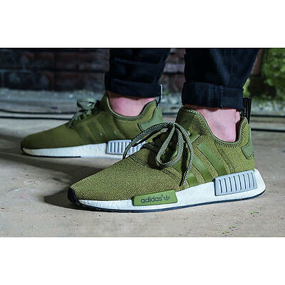 """adidas NMD_R1 """"Olive Cargo/Green"""" Men Trainer """"All Sizes""""(BB2790)"""