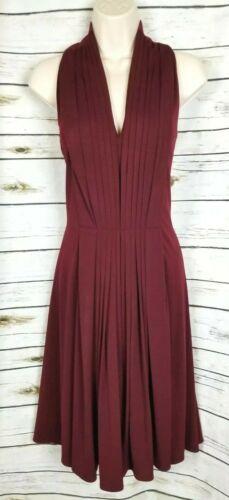 Badgley Mischka American Glamour Wine Dress Pleate