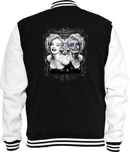 Tatuaggio Skull Twin College Rockabilly Jacke Hollywood Marilyn Sweat rAwrCqxS