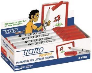 FILA-TRATTO-MEMO-854002-ROSSO-CONFEZIONE-12-PEZZI-MARCATORE-LAVAGNE-BIANCHE