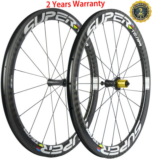50mm Clincher Carbon Wheels Bicycle Wheelset Ceramic Bearing Hub  700C Racing