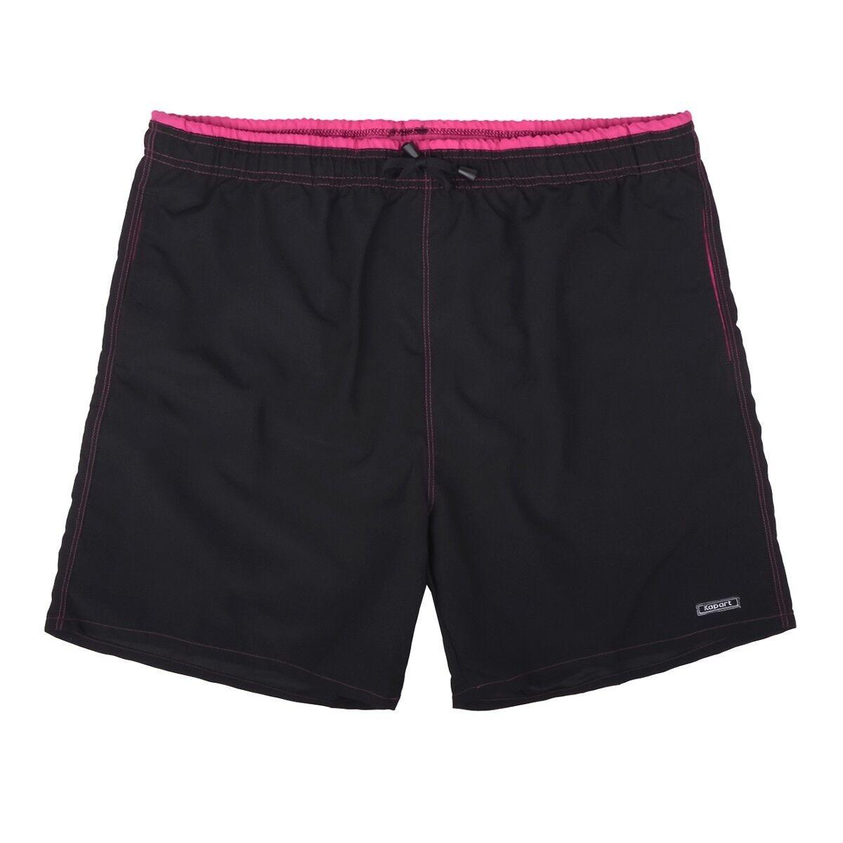 XXL Kapart Badehose Poseidon black-pink Übergrößen 8 10 12 14 16 NEU
