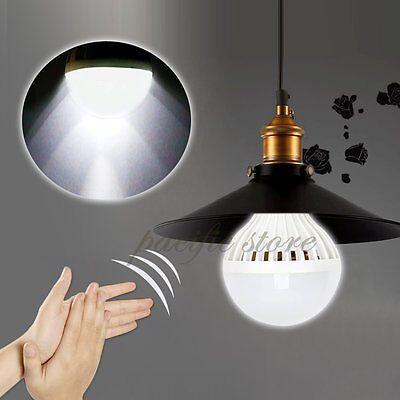 E27 3W/5W/7W/9W/12W 220V LED Sound Light Sensor Voice Control Globe Bulb Lamp