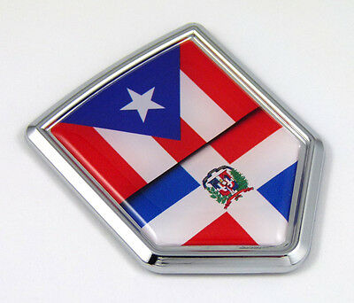 Puerto Rico Grille Badge for car truck grill mount Puerto Rican flag Car Chrome Decals
