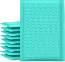 25pcs Poly Bubble Mailers 6x10inch Padded Envelopes Bulk Bubble Lined Wrap Aqua