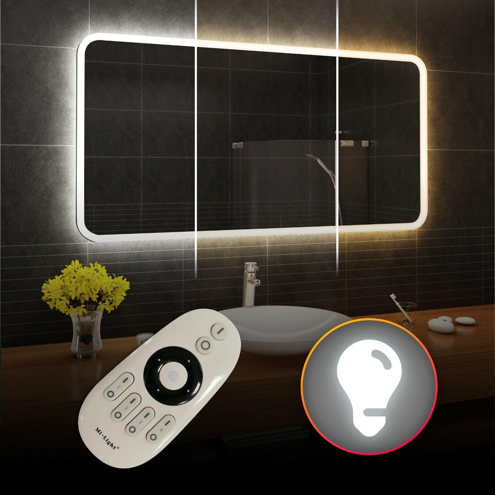 DEL Illuminé Miroir de salle de bains   Double-DEL Froid Neutre Blanc Chaud   L59