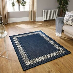 Details About Non Slip Rug Flat Weave Utility Mats Kitchen Rugs Hall Runners Navy Aera