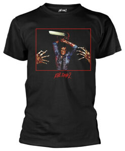 Evil-Dead-2-039-Chainsaw-039-Black-T-Shirt-NEW-amp-OFFICIAL