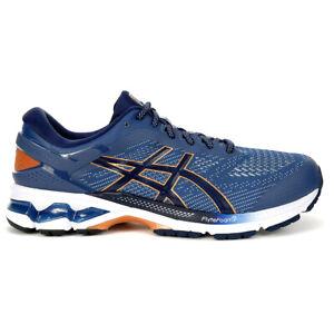 ASICS Men's Gel-Kayano 26 Grand Shark/Peacoat Running Shoes 1011A541.401 NEW
