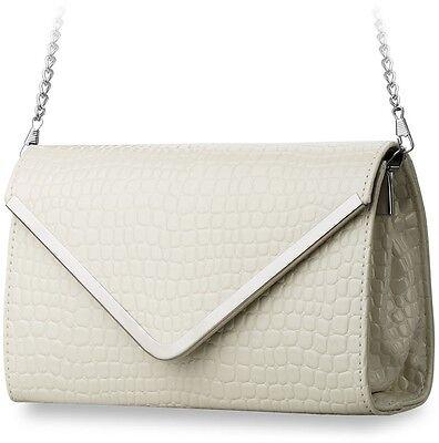 Damentasche Clutch Tasche elegante Handtasche mit Kettenriemen