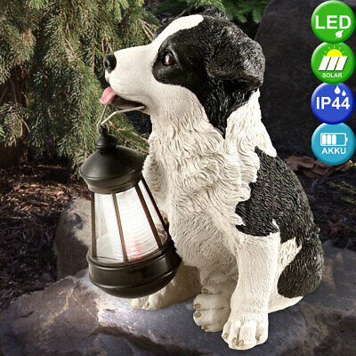 Außen LED SOLAR Hunde Figur Deko Garten Hof Weg Beleuchtung Lampe Leuchte IP44 | eBay