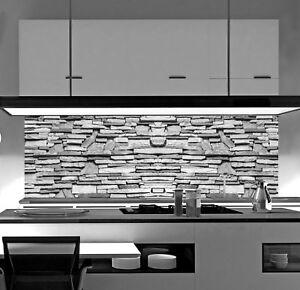 Acrylglas Küchenrückwand SteinWand SP672 Spritzschutz Herd Fliesenspiegel