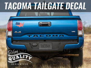 FOR Toyota Tacoma Tailgate Decal Letter Inserts 2016 2017 2018 MATTE BLACK